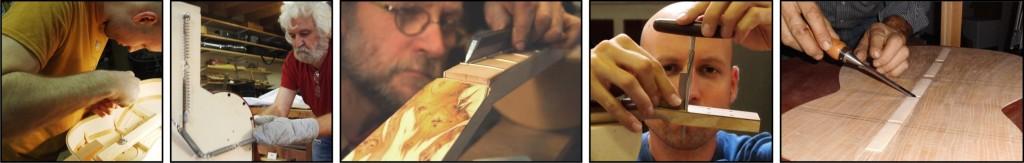 Instrumentenbouw technieken: plooien, rosettes, schaven...
