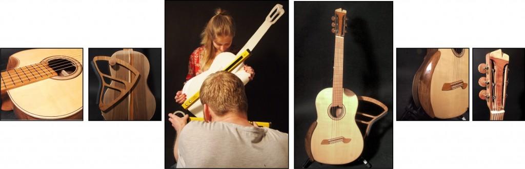 Lieven Bonnaerens begeleidde 5 studenten aan de Universiteit Antwerpen in een ergonomisch onderzoek naar betere houding van klassieke gitaristen en bouwden samen een prototype: De HEALSTRING