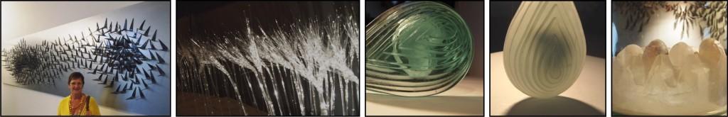 Lutgart Bonnaerens, stelt haar glaskunstwerken nogmaals voor.